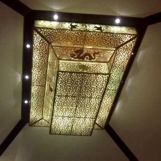 kerajinan tembaga dan kuningan Lampu Atap Elegan